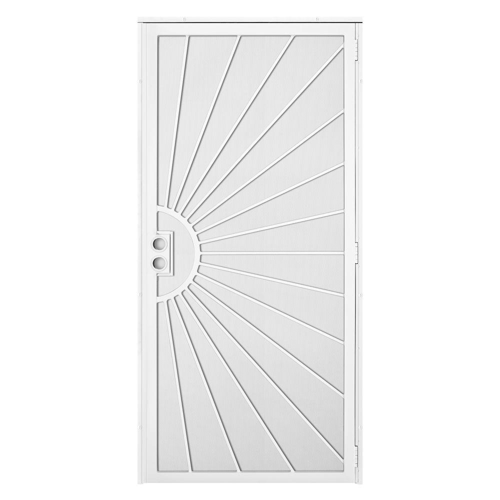 Unique Home Designs 36 In X 80 In Solana White Surface Mount