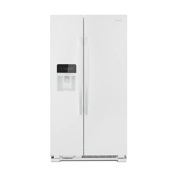 Amana - 24.5 Cu. Ft. Side-by-Side Refrigerator with Water and Ice Dispenser - White